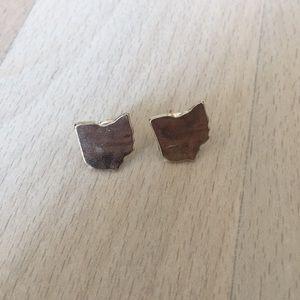 Gold Ohio Earrings